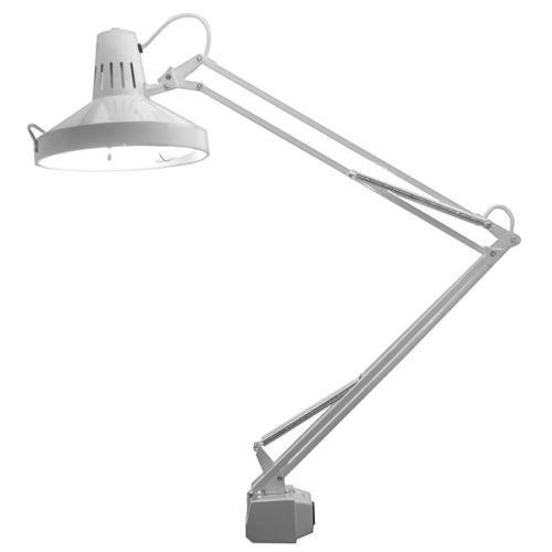 Ledu L445WT 3-Way Switch Task Lamp - 2Incandescent, Fluorescent Bulb - Adjustable - Desk Mountable - White