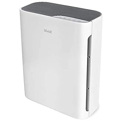 LEVOIT Purifier for Home with True HEPA Filter, Air Cleaner for Allergies and Pets, Smokers, Mold, Pollen, Dust, Quiet Odor Eliminators for Bedroom, Vital 100, White