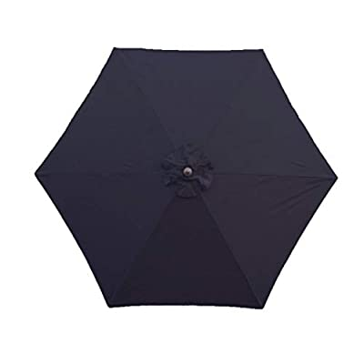 Formosa Covers 9ft Umbrella Replacement Canopy 6 Ribs in Dark Navy Olefin (Canopy Only) : Garden & Outdoor