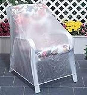 amazon com outdoor vinyl covers patio chair covers garden rh amazon com Vinyl Chair Covers Vinyl Couch Covers