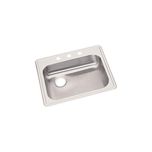 (Elkay GE12522L1 Dayton Single Bowl Drop-in Stainless Steel Sink)