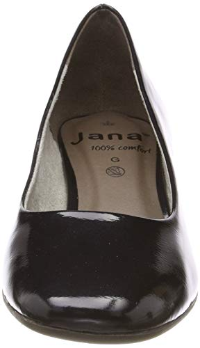 Para Zapatos Jana Mujer 22302 8 100 Tacón Pat Azul 801 De 22 navy Comfort 8 Met qvzfqB