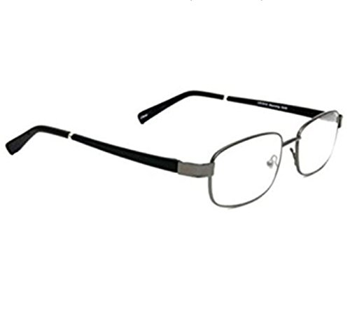 Rubber Temple - Foster Grant Manning Gunmetal Reading Glasses With Rubber Temples (+2.50)