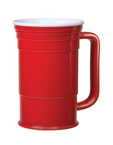 Red Cup Living Mug, 24-Ounce - Set of 4]()
