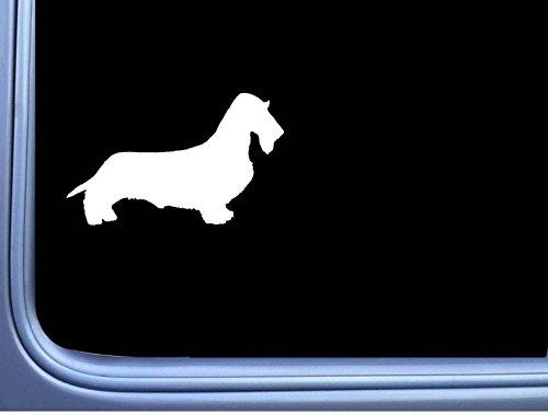 Wirehaired Dachshund J815 8 inch Sticker dachshund dog (Wirehaired Dachshund)