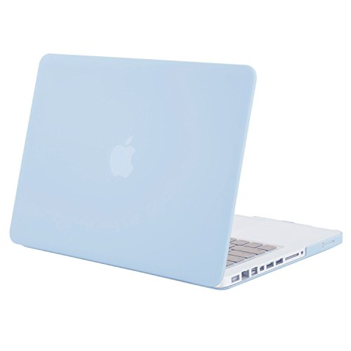 MOSISO Plastic Hard Shell Case Cover Only Compatible Old MacBook Pro 13 Inch (A1278 CD-ROM), Release Early 2012/2011/2010/2009/2008, Airy Blue