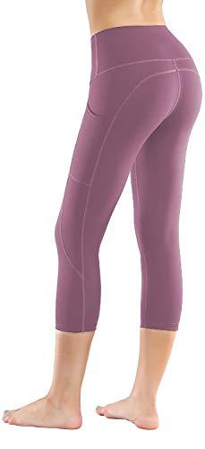 - LifeSky High Waist Yoga Pants Workout Capri Leggings for Women with Pockets Tummy Control Soft Pants, M