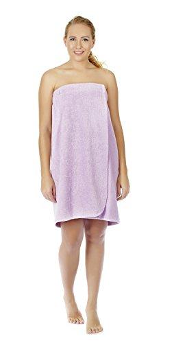 Gots Certified Organic Cotton - Arus Women's GOTS Certified Organic Turkish Cotton Adjustable Closure Bath Wrap S/M Lilac