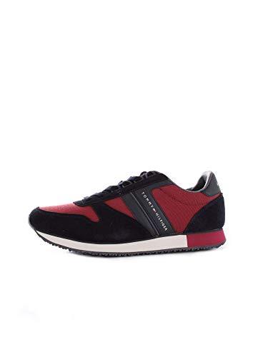 Tommy Blu Iconic Red Material Hilfiger Stringata New Bassa FMOFMO1921 Sneaker rrgHqZ8