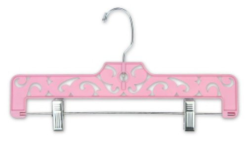 Count of 50 Retails Pink Carved Plastic Pant and Skirt Hangers