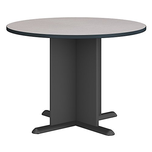 (Bush Business Furniture Series A & C 42 Inch Round Conference Table in Slate)
