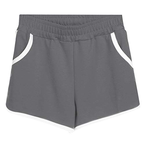Women's Sports Shorts Pantd Casual Hot Pants Home Shorts Cotton Plus Size Shorts Dark Gray -