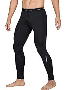 DRSKIN Compression Cool Dry Sports Tights Pants Baselayer Running Leggings Yoga Rashguard Men (Simple BB05, L)