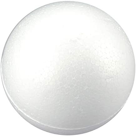 FloraCraft Styrofoam Ball 5 Inch White