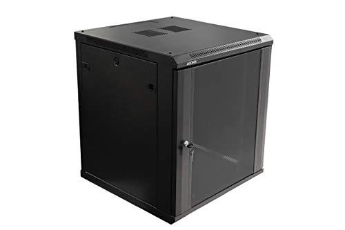 AEONS 12U Professional Wall Mount IT Cabinet Enclosure 19-Inch Server Network Rack Black