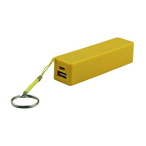 Damark Portable Power Bank 18650 External Backup Battery Charger With Key Chain (Yellow)