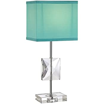 Clara 18u0026quot; High Donna Crystal Teal Blue Accent Table Lamp Amazing Design