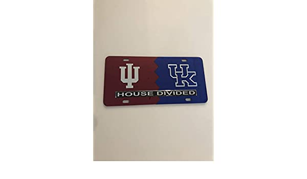 The Sports Fan Store Indiana University and Kentucky House Divided Car Tag