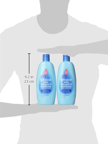 Johnson's Baby No More Tangles, Shampoo & Conditioner, Thick/Curly Hair, 18 Ounce (Pack of 2)
