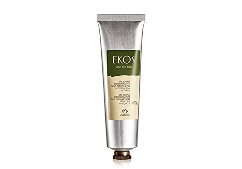 Linha Ekos (Andiroba) Natura - Gel Creme Desodorante Para Pernas e Pes 100 Gr - (Natura Ekos (Andiroba) Collection - Deodorant Creamy Gel for Leds and Feet Net 3.53 Oz) (3.53 Ounce Cream)
