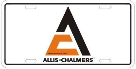 Allis Chalmers License Plate