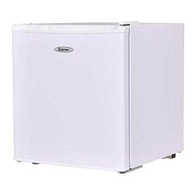 Costway Compact Refrigerator and Freezer With Single Door Cooler Fridge,1.7 Cubic Feet,Unit