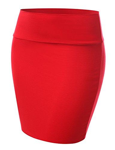 red mini skirt - 4
