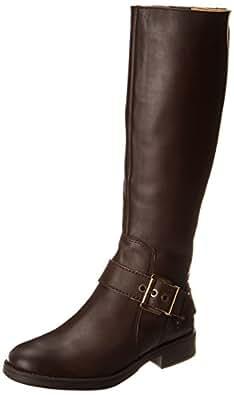 Nine West Women's Fearn Engineer Boot,Dark Brown,5 M US