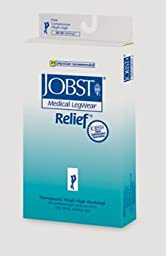 BI114202 - Bsn Jobst Relief Thigh High w/Sil Band,20-30,Open Toe,Lrg