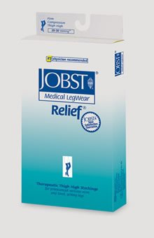 JOBST Relief Chaps, Open Toe, 20-30 mmHg, Left Leg, Medium, Beige, 1/Ea, JOB114673