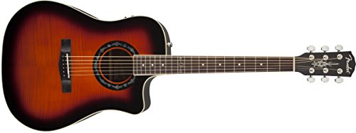 Sunburst Flame Top (Fender T-Bucket 300CE Cutaway Acoustic-Electric Guitar, Flamed Maple Top, Mahogany Back and Sides, Fishman Preamp - 3-Color)