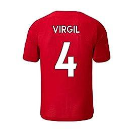ZAIYI Football T-Shirt de Football (Virgil Van Dijk-4) Football Vêtements de Sport T-Shirts Hommes et Femmes Fans Must Must.