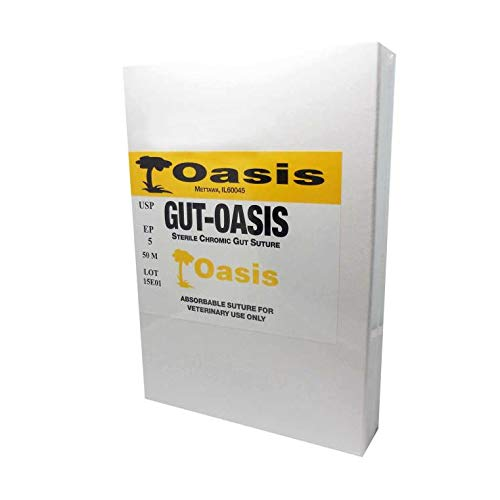 (Chromic Gut Suture Cassette by Oasis, Size 0, 50 Meters, Vet Use)