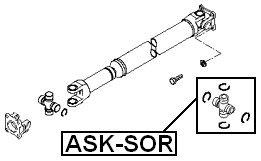 Febest U-Joint 28X48 For Hyundai//Kia 49598-3E100 Universal Joint