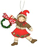 Girl Red with Garland Christmas Ornament