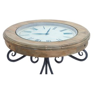 Unique Round Clock Coffee Table And End Tables Your Design. Great Glass Coffee  Table Has Large Working Clock.. Use This Beautiful Table As A Sofa Table Or  ...