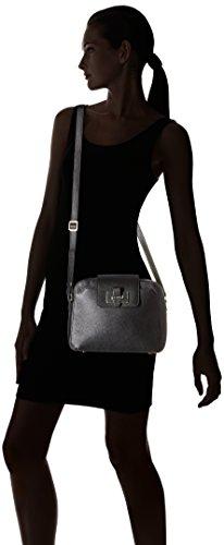 LE TANNEUR - Nina Graine, Bolsa de hombro Mujer, Noir (Tricolore), 9x19x25 cm (W x H L)