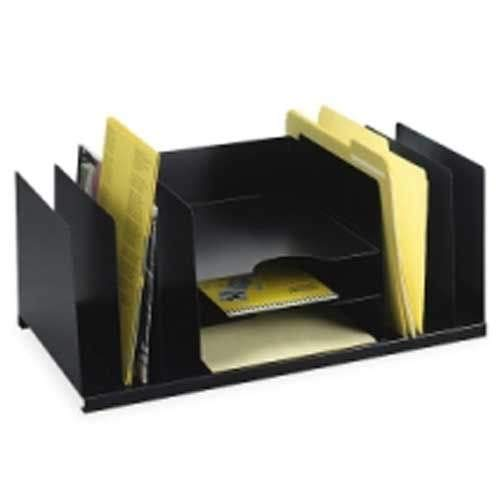 MMF Industries Desktop Organizer with 9 Compartments Black ()