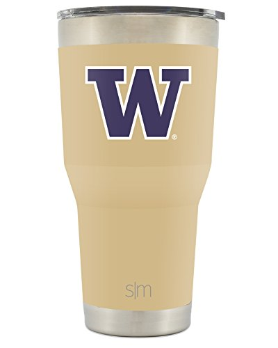 Simple Modern University of Washington 30oz Cruiser Tumbler - Vacuum Insulated Stainless Steel Travel Mug - UW Huskies Tailgating Cup College Flask