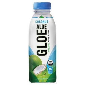 ALOE GLOE Organic Aloe Water, 15.2 Ounce (Coconut Aloe, Pack of 12)