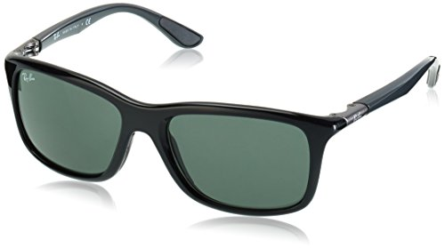Ray-Ban Men's RB8352 621971 Non-Polarized Sunglasses, Grey Black/Green Classic, 57 - Ray Ban Around Wrap Sunglasses
