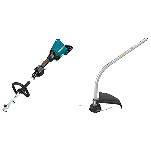 Makita XUX01Z 18V X2 (36V) LXT Lithium-Ion Brushless Cordless Couple Shaft Power Head, Tool Only with ER400MP Curved String Trimmer Couple Shaft Attachment by Makita