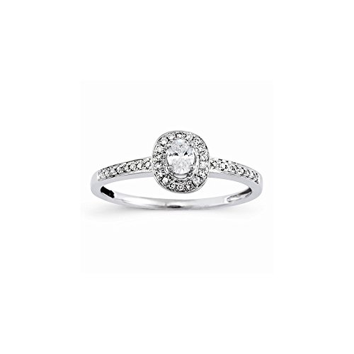 14k Semi-Mounting Wg Engagement Ring, No Center Stone Included (Wg 14k Mountings)