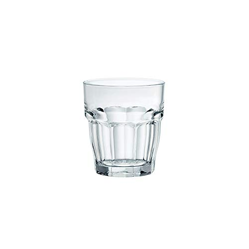Bormioli Rocco Rock Bar Stackable Shot Glasses - Set Of 6 Dishwasher Safe Drinking Glasses For Liquors & Spirits - 2.25oz Durable Tempered Glass