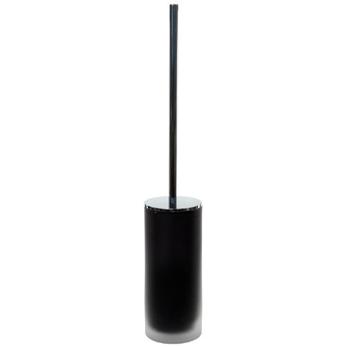 Gedy Tiglio Frosted Glass Toilet Brush With Chrome Handle, Black by Gedy by Nameeks
