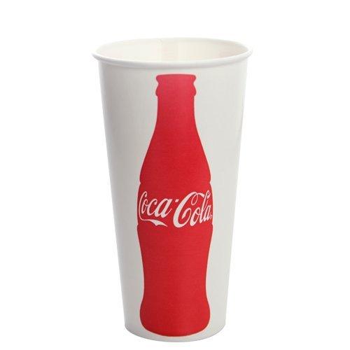 22 Oz Paper Cold Cup - Apex C-KCP22(Coke) Karat Paper Cold Cup,