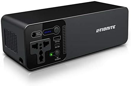 Litionite Wolf 100W / 23400mAh Power Bank/Pequeño Generador de energía portátil/batería Externa - 1x AC Toma de Corriente - 1x USB - 1x USB Type-C - Cargador para Teléfono/Tableta/Drone/Computadora