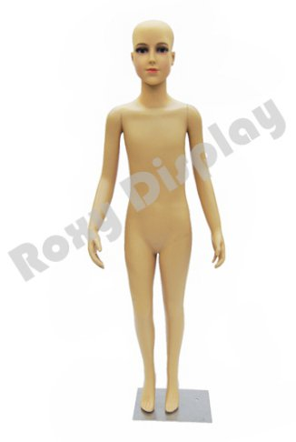 Boy Mannequin - (PS-D1/D02+One free Wig) ROXYDISPLAY™ Plastic Child Mannequin. 7-8 Years old, standing pose. Turnable arms,removable and turable head with One free Wig.