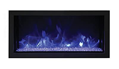Remii Extra Slim Indoor Electric Fireplace Black Steel Surround (102735-XS), Built-In, 35-Inch