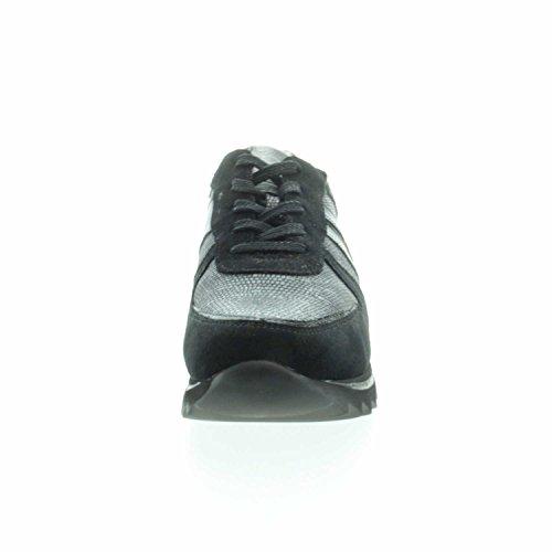 de cordones 001 300 de Zapatos 923001 para Piel Negro Waldläufer mujer aXwEqYE